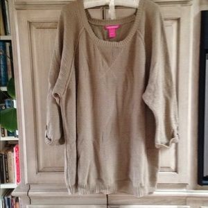 Woman Within beige pullover Sweater 2X